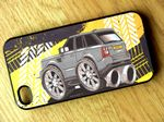 Koolart TYRE TRAX 4x4 Design For Range Rover Sport HSE Hard Case Cover Fits Apple iPhone 4 & 4s